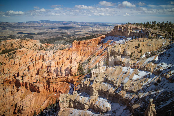 Red Rocks Hoodoos in Bryce Point at Bryce Canyon National Park, Utah