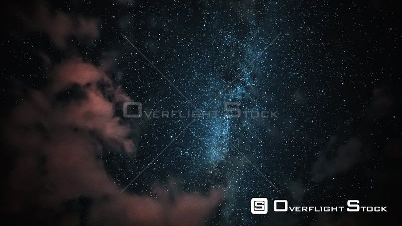 Perseid Meteor Shower Night Sky with Shooting Stars