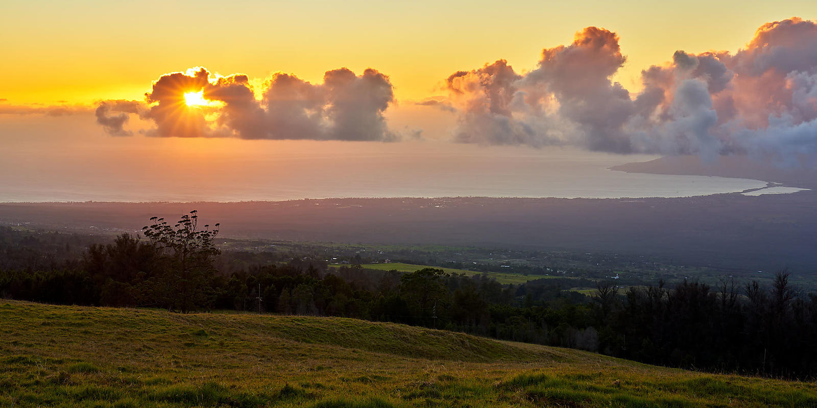 Upcountry Sunset Panorama