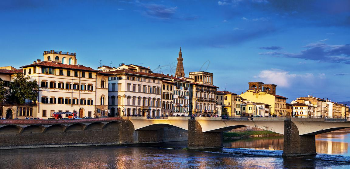 Ponte Vecchio Bridge at Twilight