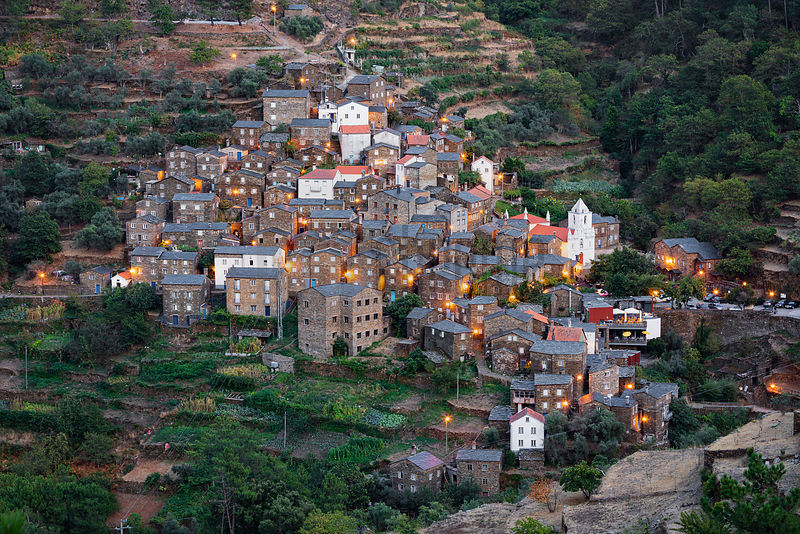 The Village of Piódão at Dusk