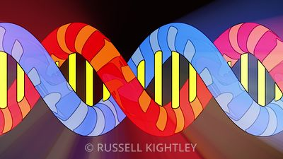 DNA Cartoon Giving Off Light Soft Glow