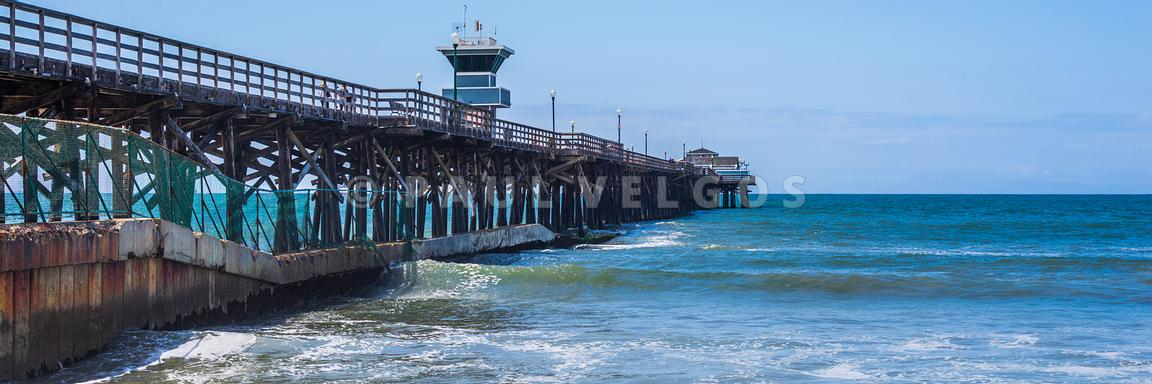 California Seal Beach Pier Panoramic Photo