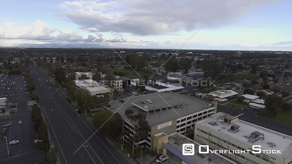 Drone Video Closed Mall Lakewood Gardens Los Angeles California during the COVID-19 Pandemic