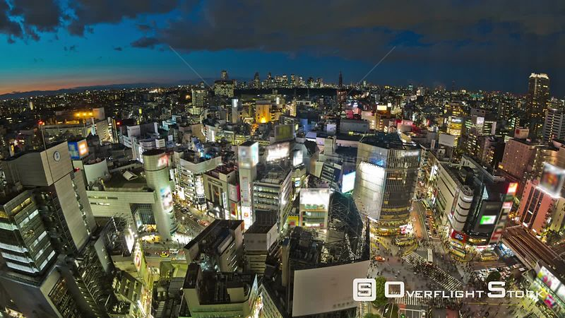 Tokyo  Japan Tokyo cityscape time lapse over Shibuya at night.