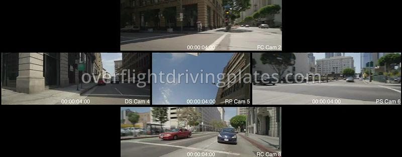East 4th Street  Los Angeles California USA - Driving Plate Preview 2012
