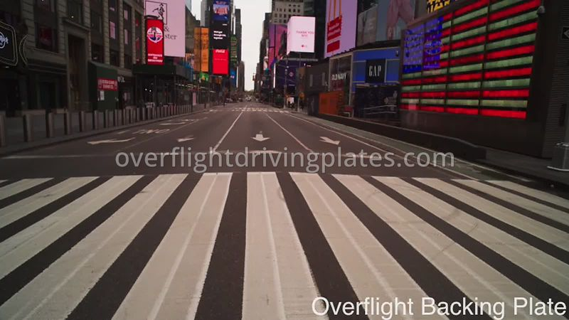 Deserted Streets During Covid-19 Pandemic Time Square Manhattan New York New York USA - BackingPlate Apr 26, 2020