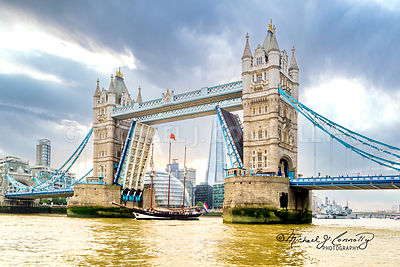 Tower Bridge Open For A Tall Ship (2)