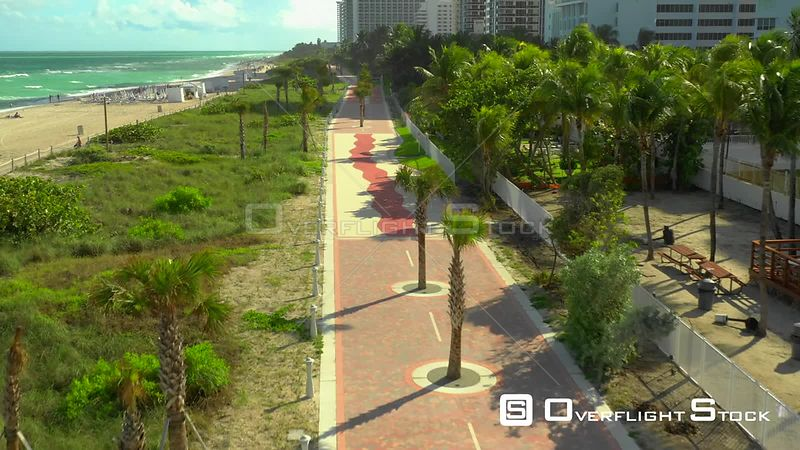 Atlantic Greenway Miami Beach aerial drone video 4k 30p
