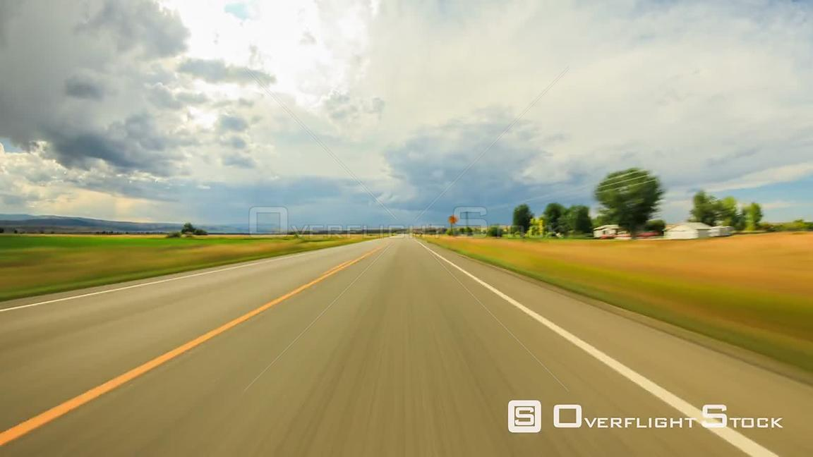 Driving time lapse through SW Montana area.