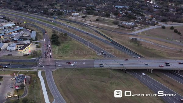 Rush Hour Traffic in a Small City, Bryan, Texas, USA