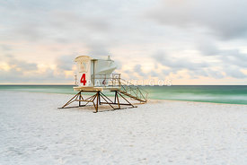 Pensacola Beach Lifeguard Tower Four Sunrise Photo