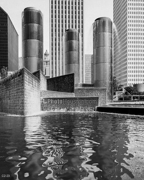 Tranquility Park fountain in downtown Houston
