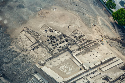 Huacas Ancient Civilization Digs at Capital City Lima Peru