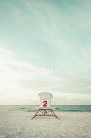 Pensacola Beach Lifeguard Tower 2 Retro Vertical Photo