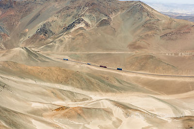 Isolated Highway Coast Between Huarney et Paramonga Ancash Region Peru