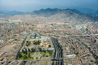 Urban Sprawl fo Capital City Lima Peru