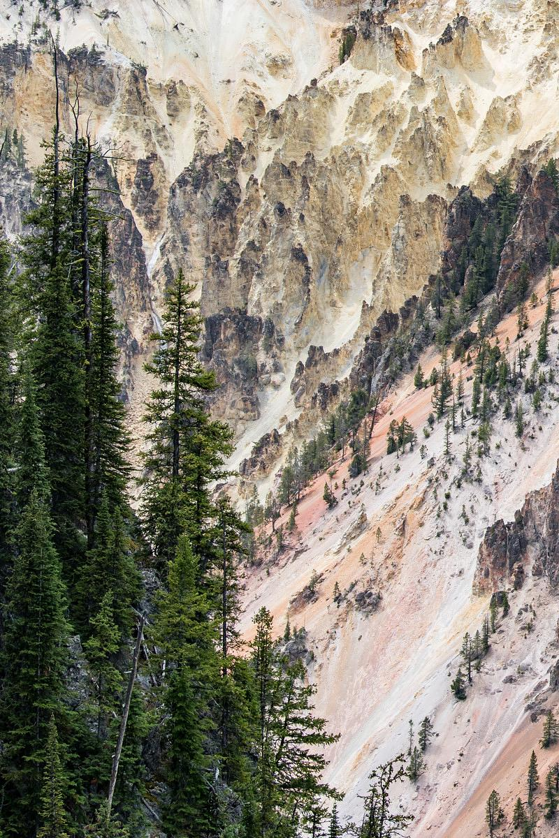 Yellowstone River Canyon Wall