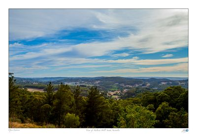 A scenic view of the Adelaide Hills from Mt Lofty House