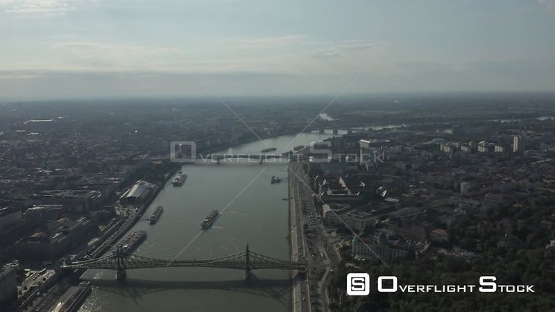 Aerial Drone Video of Budapest Cityscape Hungary