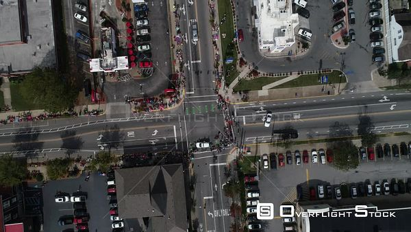 Harvest Parade New Albany Indiana Drone Aerial View