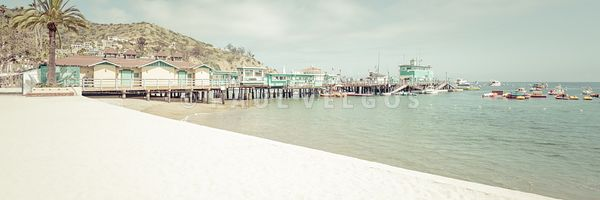 Catalina Island South Beach and Pier Panorama Photo