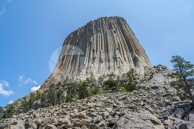 The infamous Devils Tower National Monument in Wyoming