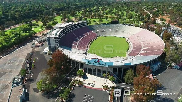 Rose Bowl Stadium Pasadena California Drone View