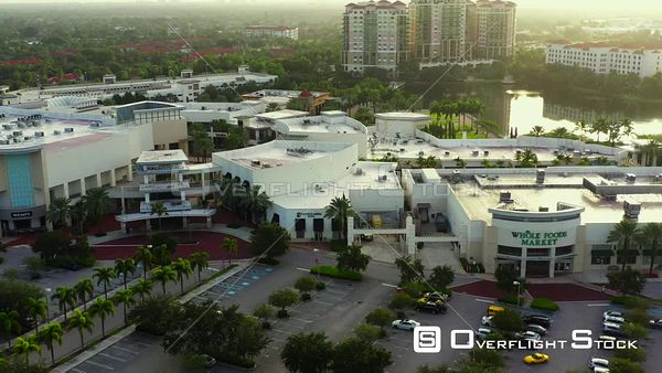 Aerial drone video The Gardens Mall Florida USA