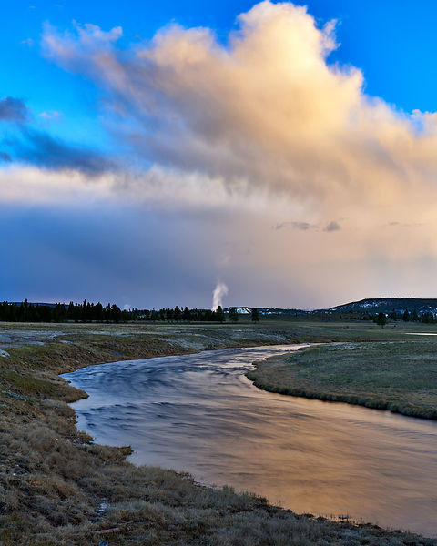 Firehole Sunset