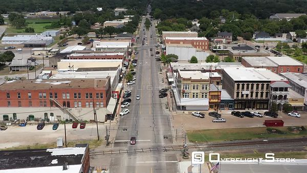 Storefronts and business in a small town, Navasota, Texas, USA