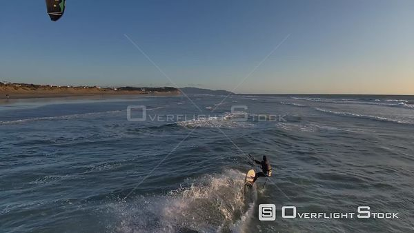 Man Kite Surfing on California Beach