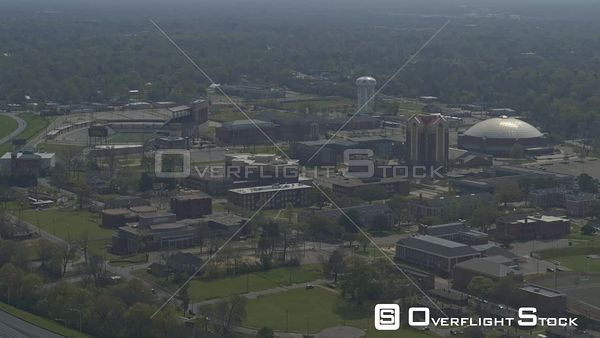 Montgomery Alabama right to left panning shot of alabama state university campus  DJI Inspire 2, X7, 6k
