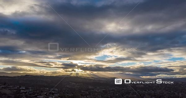 Time Lapse Dusk Clouds and Community Woodland Hills Los Angeles California