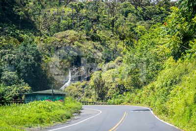A long way down the road of in Maui, Hawaii