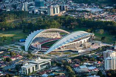 Estadio National and La Sabana Park. San José Costa Rica