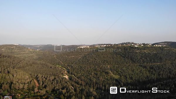 Jerusalem Pine Forest Drone View Israel