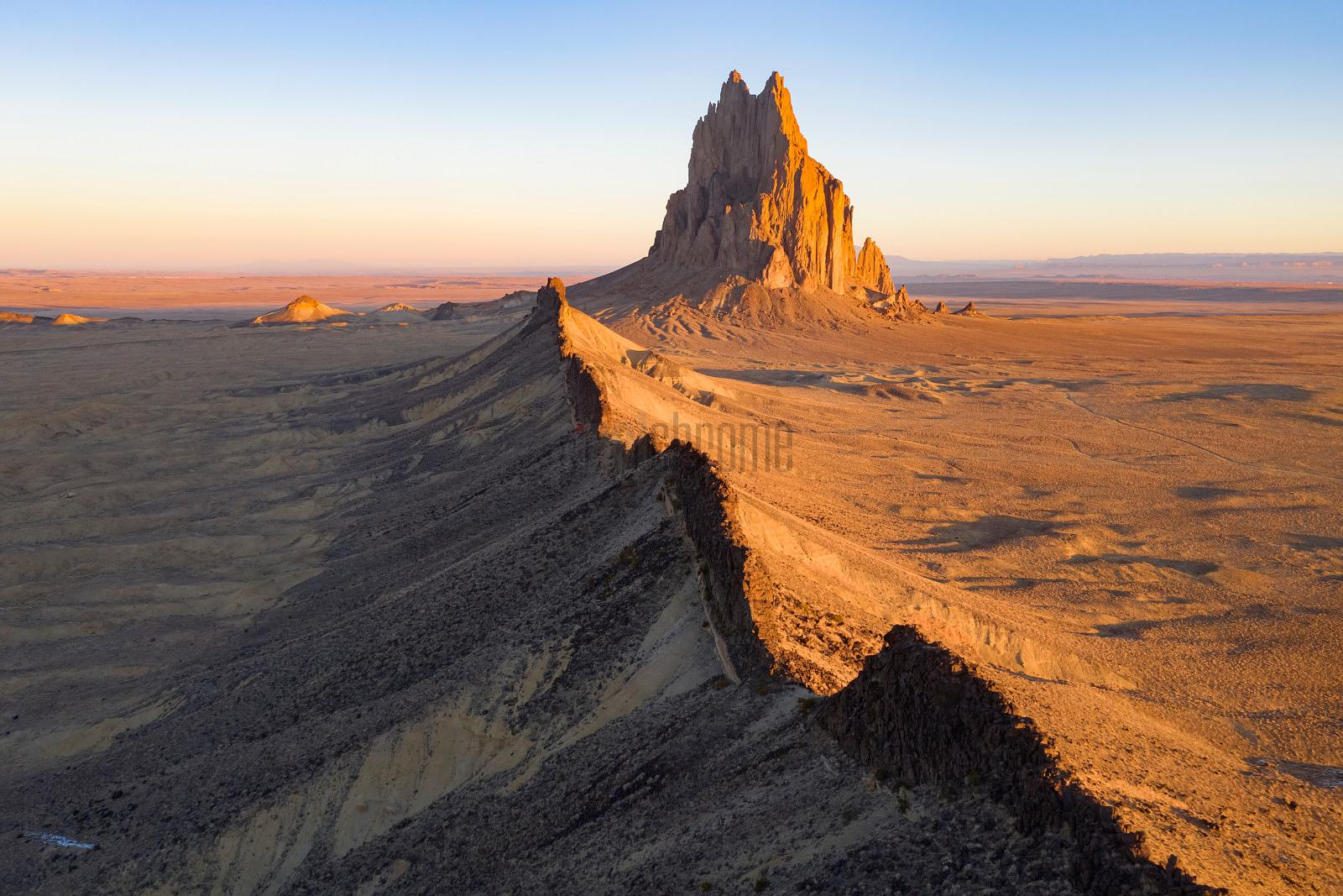 Aerial View of Shiprock and a Volcanic Dyke