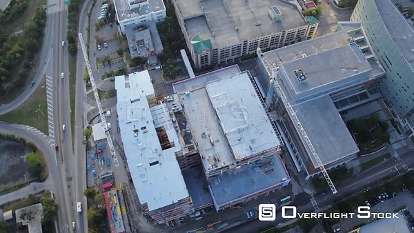 South Carolina Charleston Aerial Vertical view panning above building construction