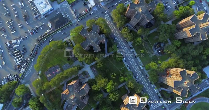 Vertical View of Roads and Traffic on Brooklyn New York City Streets