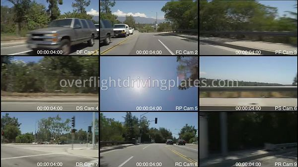 Colorado Boulevard  Pasadena California USA - Driving Plate Preview 2012