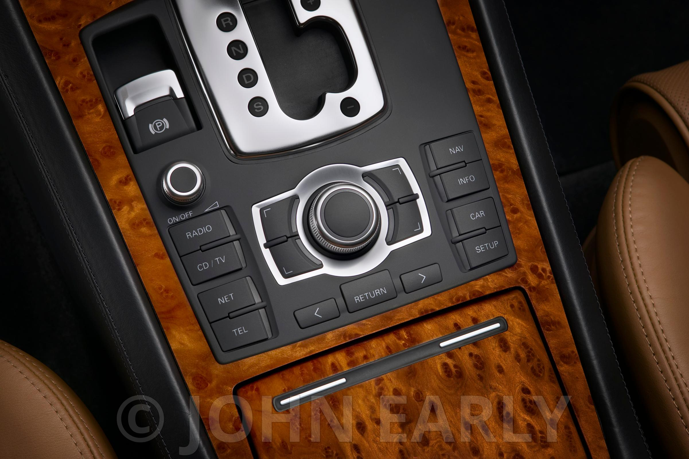 Overhead of Luxury Center Console