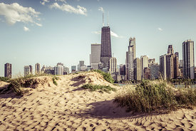 Chicago Skyline North Avenue Beach Photo