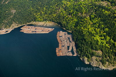 Log Booms Gambier Island British Columbia Canada