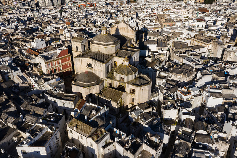 Aerial Views of the Old Town of Martina Franca