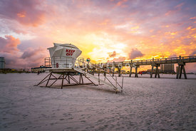 Pensacola Lifeguard Tower Five Sunrise Photo