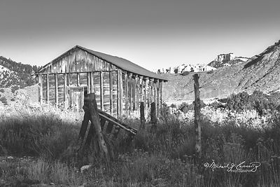 Old Ranch Shed (B&W)