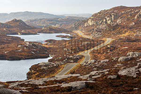 Road Winding through the Landscape near Tarbert
