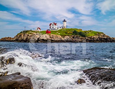 A well known Cape Neddick Light in York, Maine