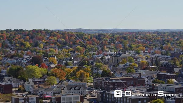Manchester New Hampshire Ascending panoramic view of downtown with arena and river views